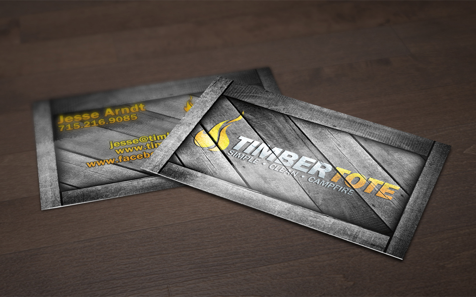 Timber Tote Business Card Design