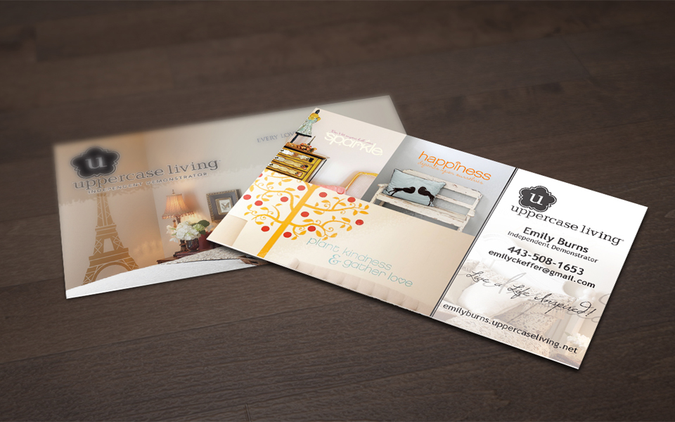 Uppercase Living Business Card Design